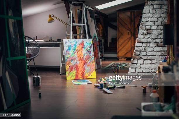 アートスタジオ - 美術スタジオ ストックフォトと画像