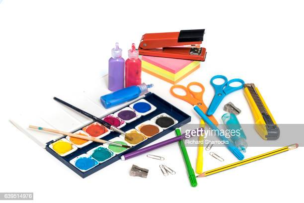 art supplies - art and craft equipment stock pictures, royalty-free photos & images
