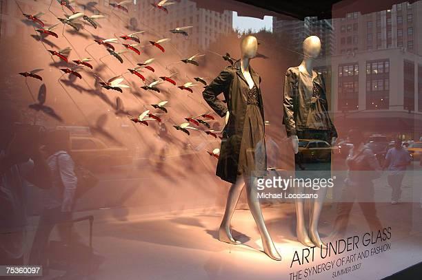 macys sidewalk exhibit opens with art under glass stock photos and