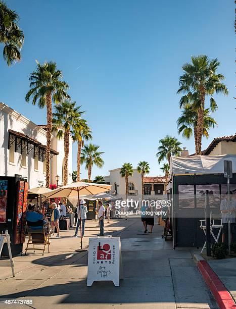 Art Under The Umbrellas Street Fair in La Quinta, California