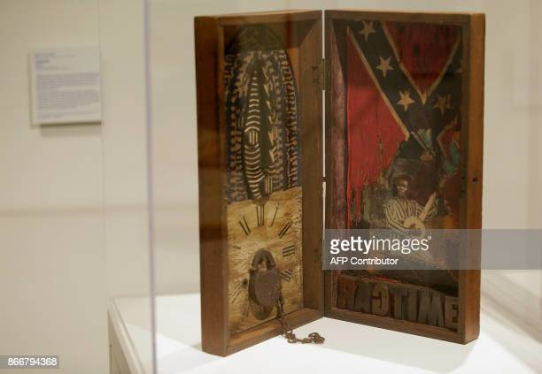 Art work by Betye Saar is displayed at the Take A Stand Center at the Illinois Holocaust Museum Education Center on Thursday October 26 2017 in...