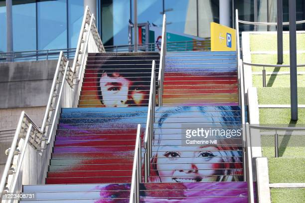Art work by Frank Styles has been unveiled on the Spanish Steps outside Wembley Stadium in collaboration with the EFL and Mental Health Charity Mind...