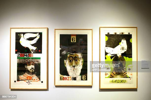Art work by Mauricio Lasansky is displayed at the Take A Stand Center at the Illinois Holocaust Museum Education Center on Thursday October 26 2017...