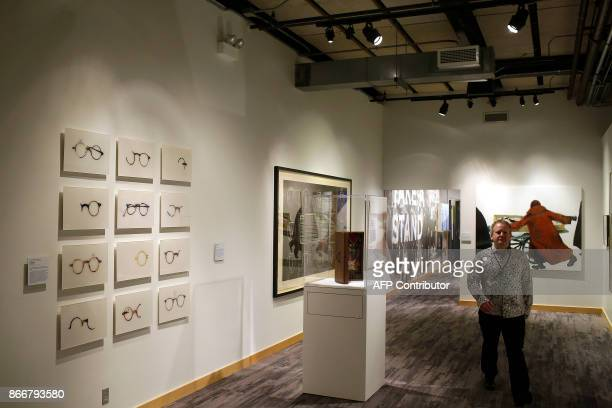 Art work is displayed at the Take A Stand Center at the Illinois Holocaust Museum Education Center on Thursday October 26 2017 in Skokie Illinois /...