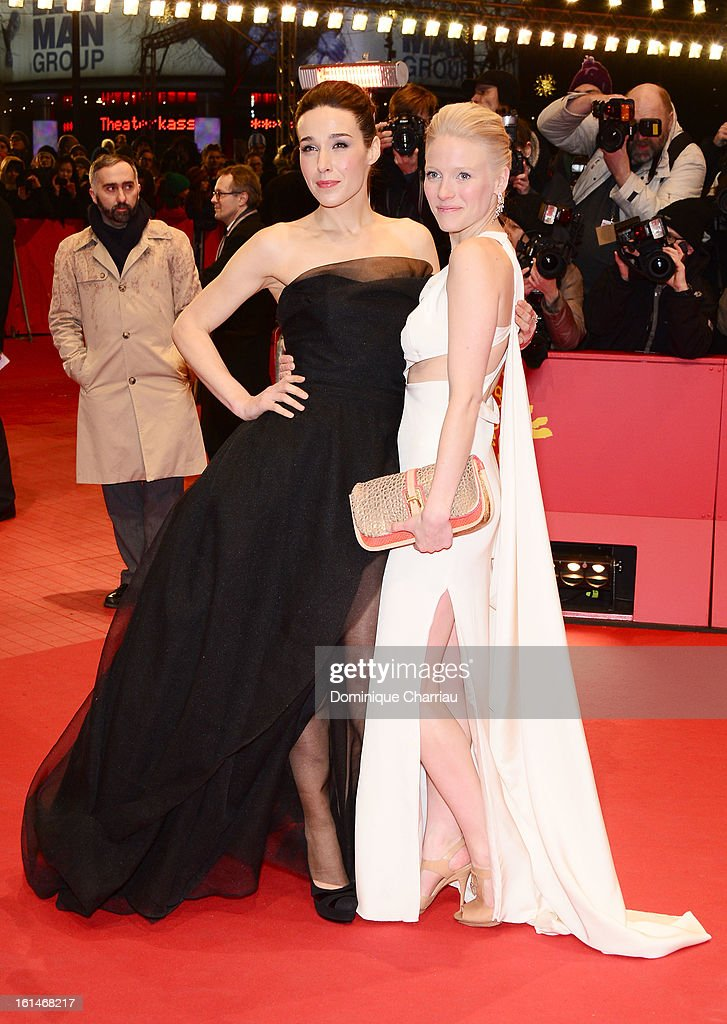 Arta Dobroshi and Laura Birn attend the 'Before Midnight' Premiere during the 63rd Berlinale International Film Festival at the Berlinale Palast on February 11, 2013 in Berlin, Germany.