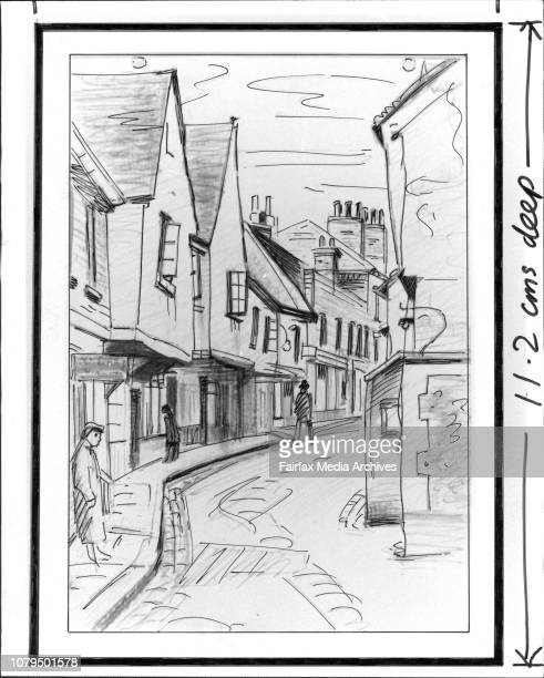 Artarmon Galleries drawings of Eric Wilson St Albans April 04 1986