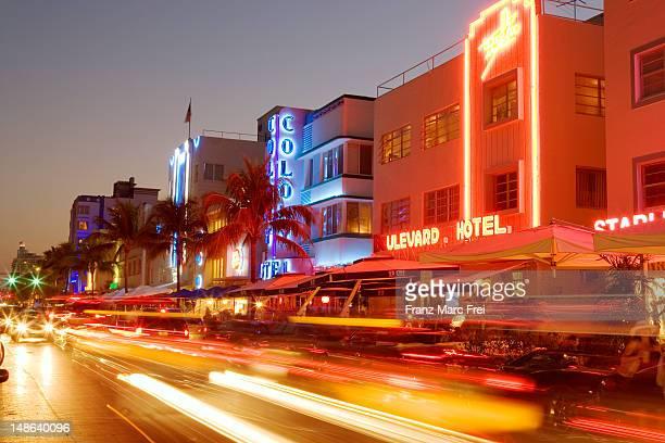 Art-Deco buildings on Ocean Drive.