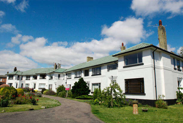 art deco influenced semi detached houses norwich norfolk uk