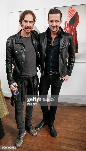 Artdirecotr Thomas Hayo and Marco Stein at 'Der Berliner Fotografie Salon Edition 1' on April 29 2016 in Berlin Germany