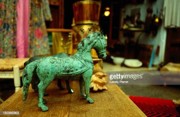 Artefacts: statue of a horse.