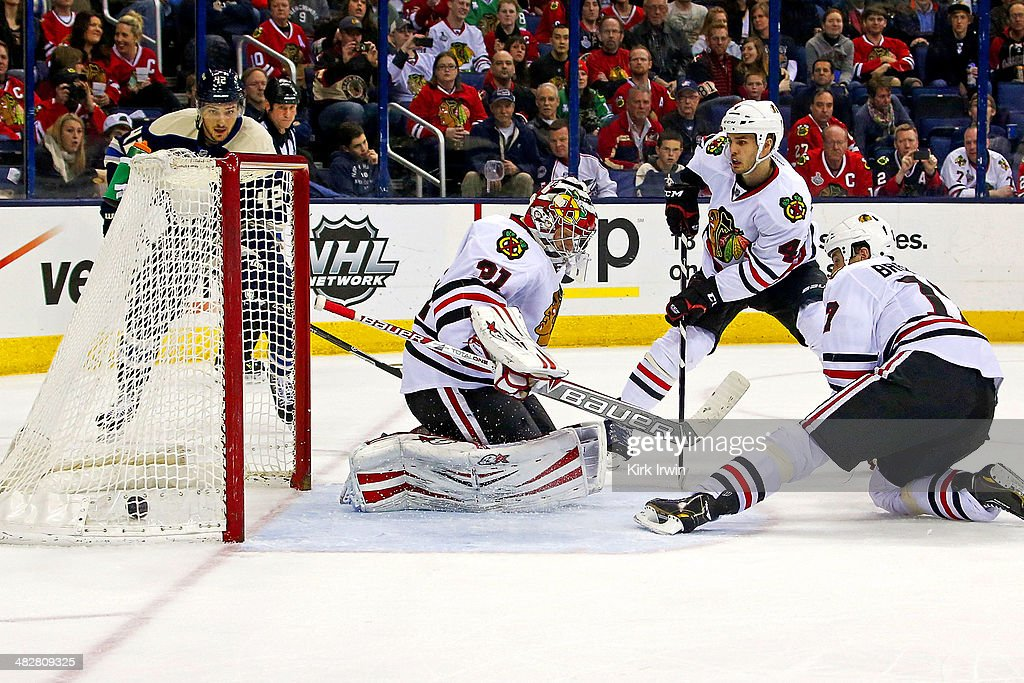 Chicago Blackhawks v Columbus Blue Jackets