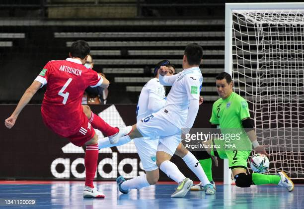 Artem Antoshkin of RFU scores his teams fourth goal of the match during the FIFA Futsal World Cup 2021 group B match between Guatemala and Football...