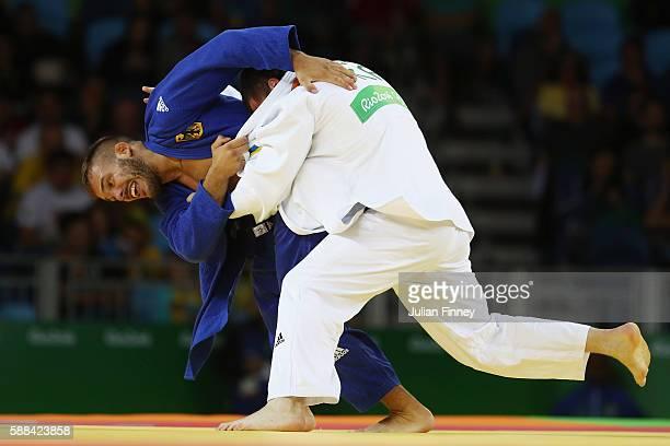 Artem Bloshenko of Ukraine competes against KarlRichard Frey of Germany during the men's 100kg elimination round judo contest on Day 6 of the 2016...