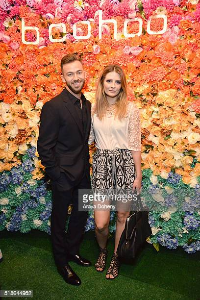 Artem Chigvintsev and Mischa Barton attend the boohoocom Flagship LA Pop Up Store with opening party fueled by CIROC UltraPremium Vodka on April 1...