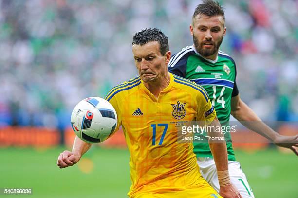 Artem FEDETSKIY of Ukraine during the UEFA EURO 2016 Group C match between Ukraine and Northern Ireland on June 16 2016 in DecinesCharpieu France