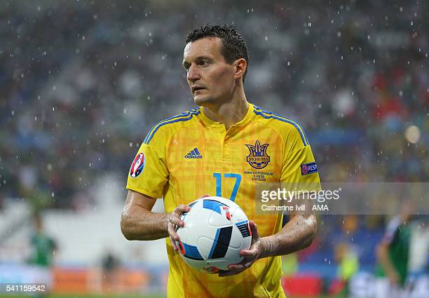 Artem Fedetskiy of Ukraine during the UEFA EURO 2016 Group C match between Ukraine and Northern Ireland at Stade des Lumieres on June 16 2016 in Lyon...