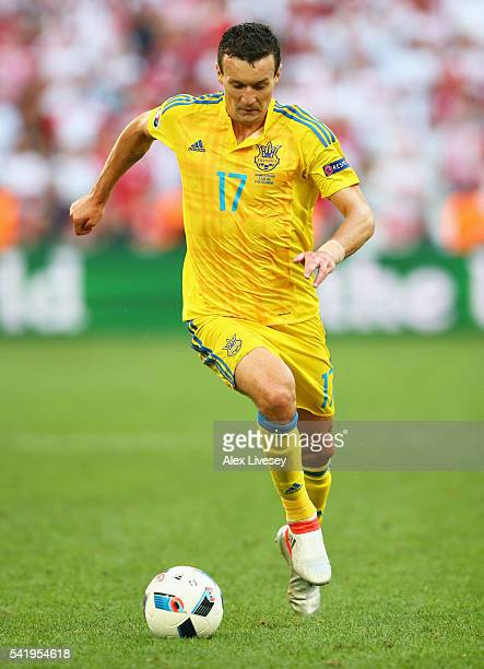 Artem Fedetskiy of Ukraine in action the UEFA EURO 2016 Group C match between Ukraine and Poland at Stade Velodrome on June 21 2016 in Marseille...