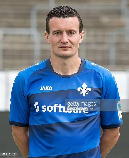Artem Fedetsky poses during the Darmstadt 98 Team Presentation on August 11 2016 in Darmstadt Germany