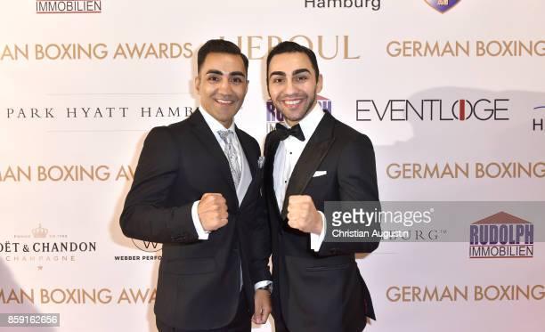 Artem Harutyunyan and his brother Robert Harutyunyan attend the German Boxing Award 'Herqul' at the Besenbinderhof on October 8 2017 in Hamburg...