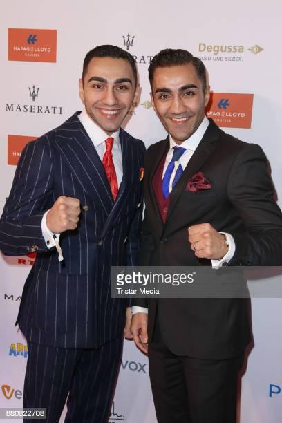 Artem Harutyunyan and Robert Harutyunyan attend the Movie Meets Media event 2017 at Hotel Atlantic Kempinski on November 27 2017 in Hamburg Germany