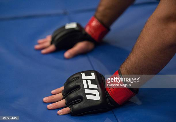 Artem Lobov warms up before facing James Jenkins during the filming of The Ultimate Fighter Team McGregor vs Team Faber at the UFC TUF Gym on August...