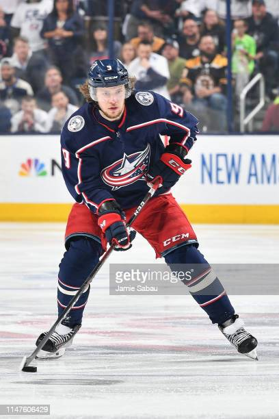 Artemi Panarin of the Columbus Blue Jackets skates against the Boston Bruins in Game Six of the Eastern Conference Second Round during the 2019 NHL...