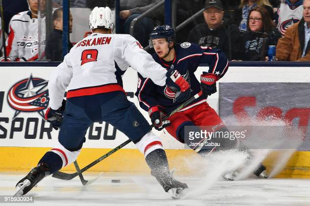 Artemi Panarin of the Columbus Blue Jackets skates against the Washington Capitals on February 6 2018 at Nationwide Arena in Columbus Ohio