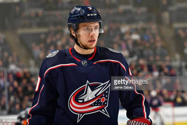 Artemi Panarin of the Columbus Blue Jackets skates against the Washington Capitals on February 6 2018 at Nationwide Arena in Columbus Ohio