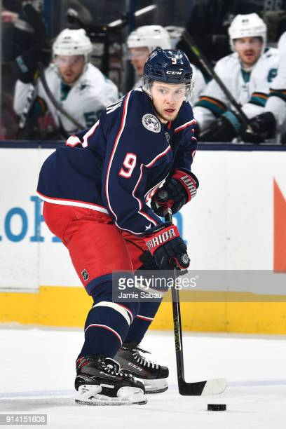 Artemi Panarin of the Columbus Blue Jackets skates against the San Jose Sharks on February 2 2018 at Nationwide Arena in Columbus Ohio