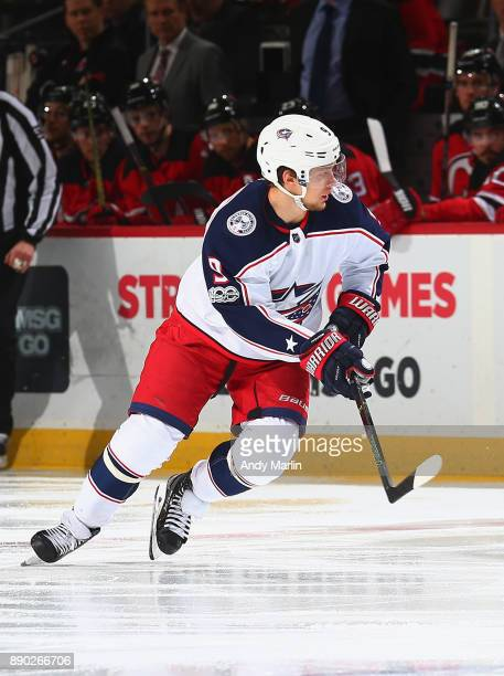 Artemi Panarin of the Columbus Blue Jackets skates during the game against the New Jersey Devils at Prudential Center on December 8 2017 in Newark...