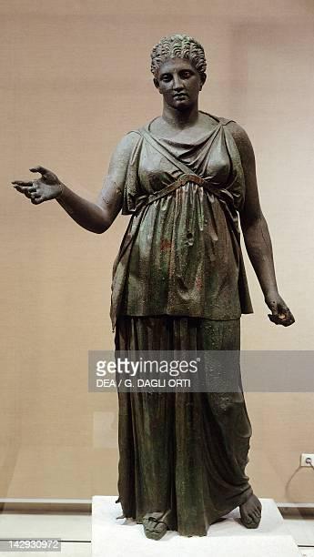 Artemis bronze statue Greek Civilization 4th Century BC Athens Ethnikó Arheologikó Moussío