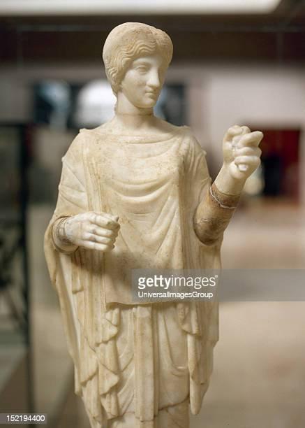 Artemis, Huntress goddess, Roman marble sculpture, dating from the second century, Ephesus Museum, Seluk, Turkey.