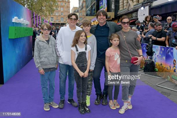 Artemis James Geronimo James Sable James Galileo James Alex James Beatrix James and Claire Neate attend the 'A Shaun The Sheep Movie Farmageddon'...