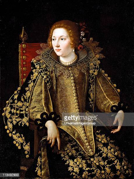 Artemisia Gentileschi was an Italian Early Baroque painter Portrait of a Lady ThreeQuarter Length Seated Dressed in a Gold Embroidered Elaborate...