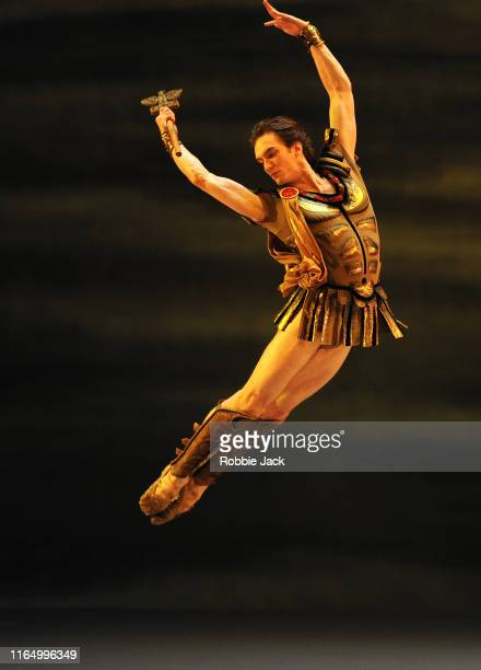 Artemy Belyakov as Crassus in The Bolshoi Ballet's production of Yuri Grigorovich's Spartacus at The Royal Opera House on July 29, 2019 in London,...