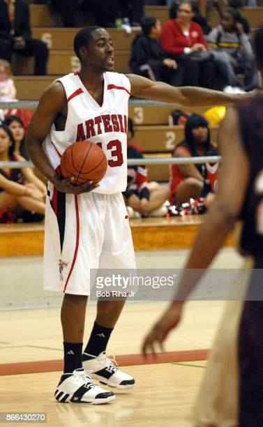 8a7ff85b4ee Artesia High School basketball player James Harden during league game  February 6 2007 in Lakewood California