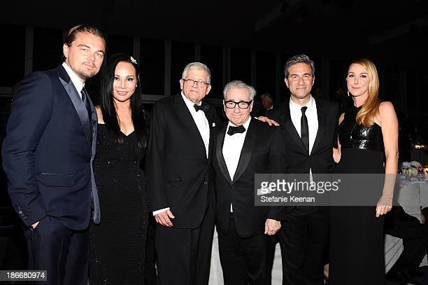 ArtFilm Gala CoChairs Leonardo DiCaprio and Eva Chow wearing Gucci honorees David Hockney and Martin Scorsese Director and CEO of LACMA Michael Govan...