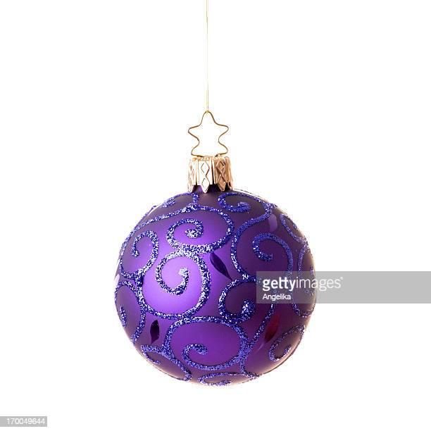 Kunstvolle Christmas ball, isoliert auf weiss