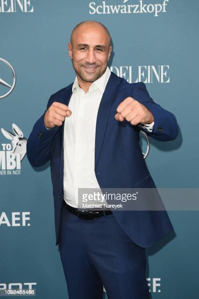 Arthur Abraham arrives for the Tribute To Bambi at Kraftwerk Mitte on October 18 2018 in Berlin Germany