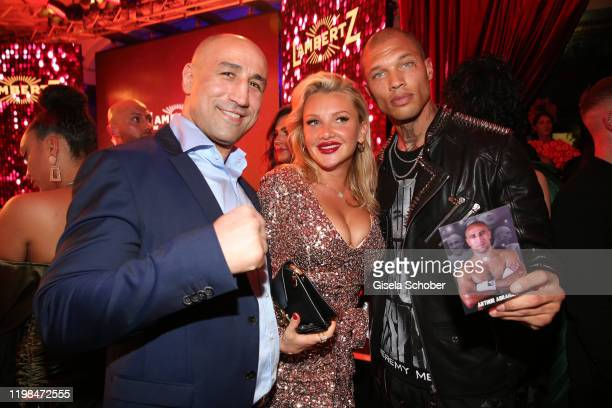 """Arthur Abraham, Evelyn Burdecki, Model Jeremy Meeks during the Lambertz Monday Night 2020 """"Wild Chocolate Party"""" on February 3, 2020 in Cologne,..."""