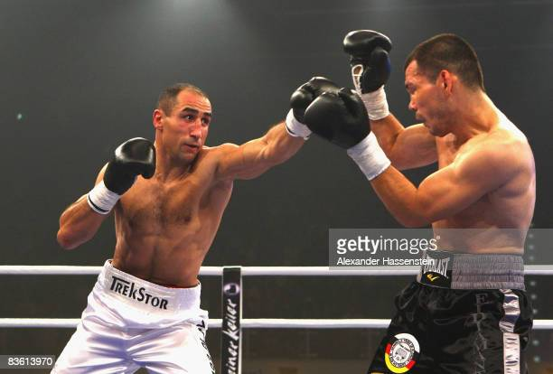 Arthur Abraham of Germany and Raul Marquez of USA in action during the IBF World Championship Middleweight fight at the Jako-Arena on November 8,...