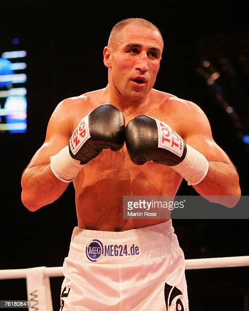 Arthur Abraham of Germany in action during the IBF World Championship Middleweight fight between Arthur Abraham and Khoren Gevor at the Max Schmeling...