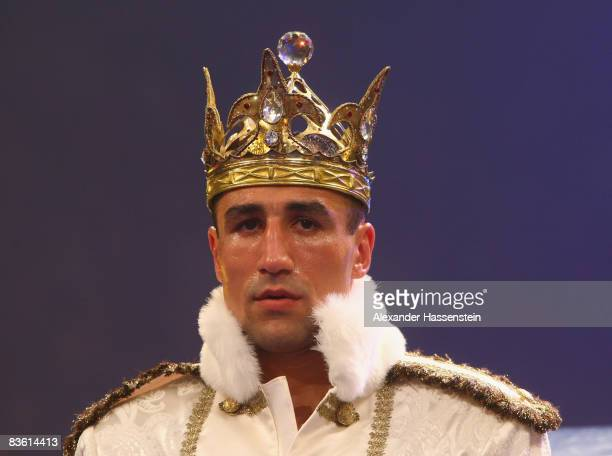 Arthur Abraham of Germany walks in for his IBF World Championship Middleweight fight against Raul Marquez of the US at the Jako-Arena on November 8,...