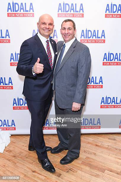 Arthur Aidala and Adam Goldstein attend Arthur Aidala for New York Fundraiser at The Liberty Warehouse on January 9 2017 in Brooklyn New York