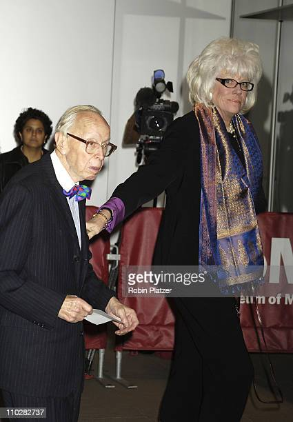 Arthur and Alexandra Schlesinger during Cocktail Party for TRH The Prince of Wales and The Duchess of Cornwall at the Museum of Modern Art November 1...
