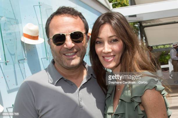 Arthur and Mareva Galanter attend the Men Final of the 2017 French Tennis Open Day Fithteen at Roland Garros on June 11 2017 in Paris France