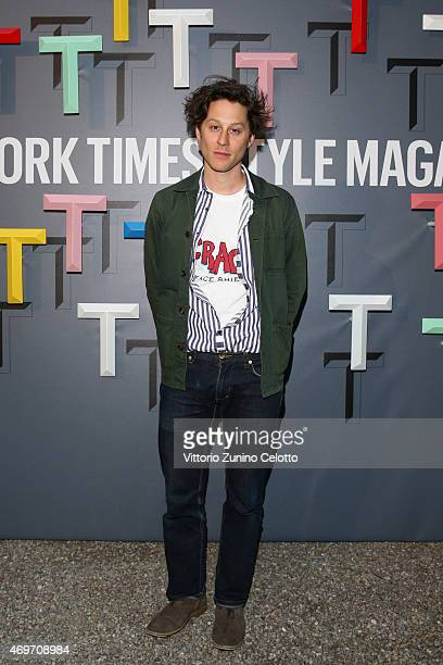 Arthur Arbesser attends the T The New York Times Style Magazine's Celebration of Salone Internazionale del Mobile at Villa Necchi on April 13 2015 in...