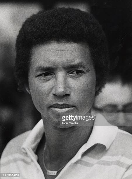 Arthur Ash during 5th Annual RFK ProCelebrity Tennis Tournament August 16 1976 at Seagrams Plaza in New York City New York United States