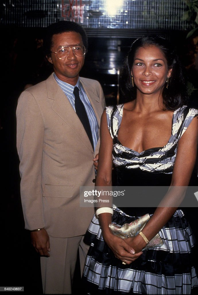 Arthur Ashe and wife... : News Photo