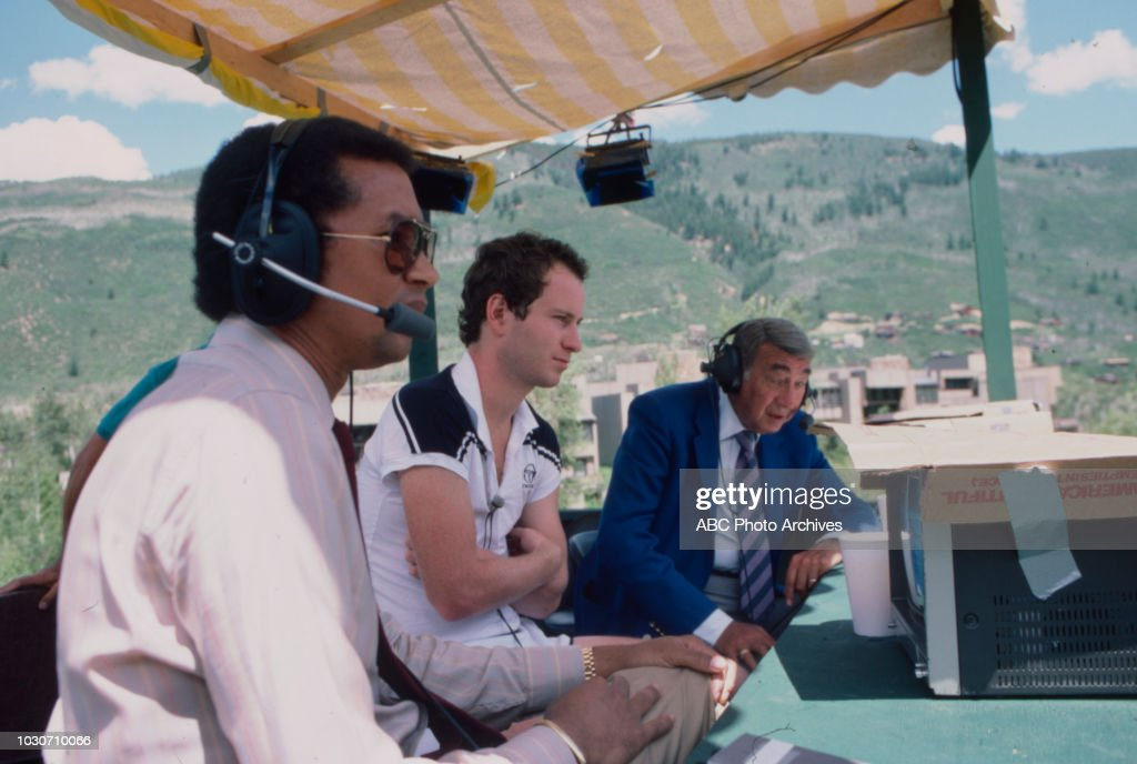 Arthur Ashe, John McEnroe, Howard Cosell for ABC Sports.